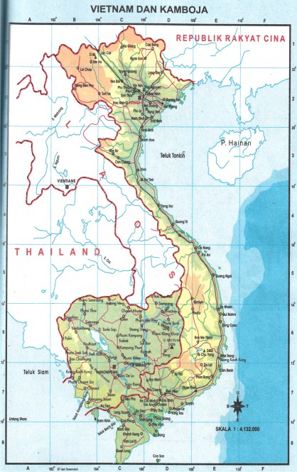 Peta Negara Asean Pembelajaran Gambar Buta Vietnam