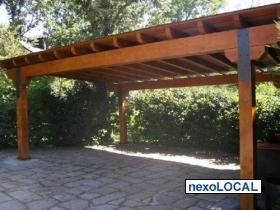 Cobertizos de madera cobertizos pergolas y quinchos for Cobertizos de madera precios