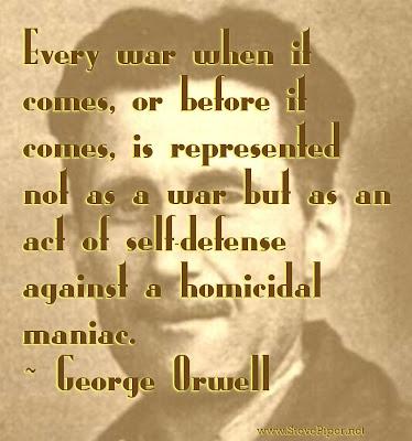 George Orwell, war