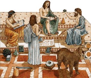 La familia griega estaba organizada bajo la autoridad absoluta del padre. La mujer vivía dedicada a realizar todas las tareas de la casa, y también el hilado y el tejido.
