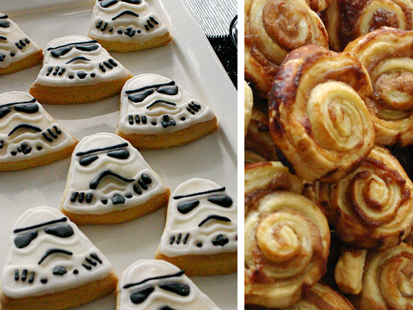 Sweet table - Star Wars - Storm troopers decorated cookies