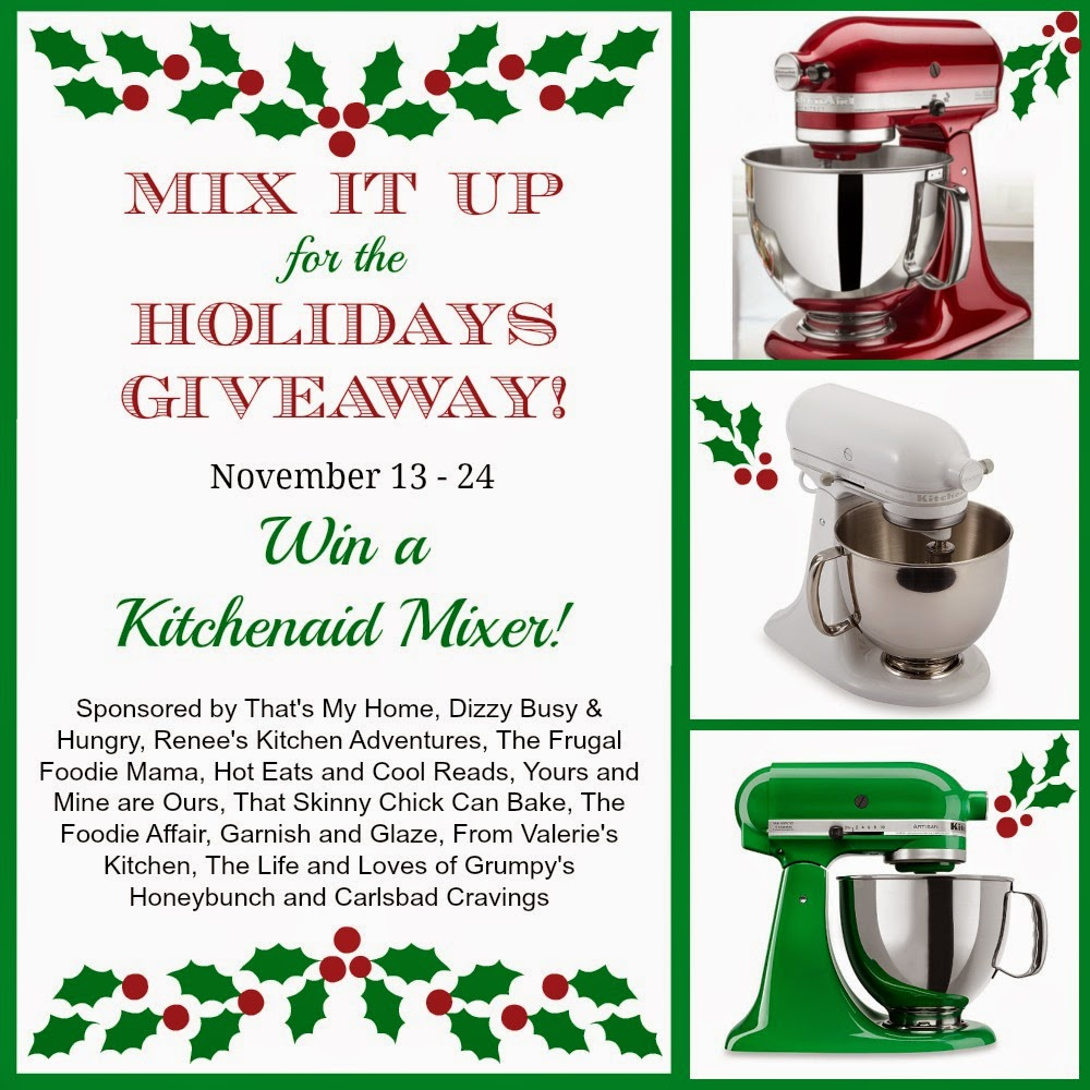 Enter to win a KitchenAid Stand Mixer!