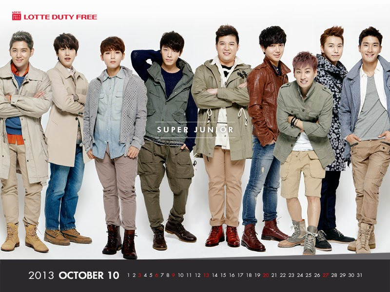 my blog: Super Junior Lotte Duty free Wallpaper October 2013