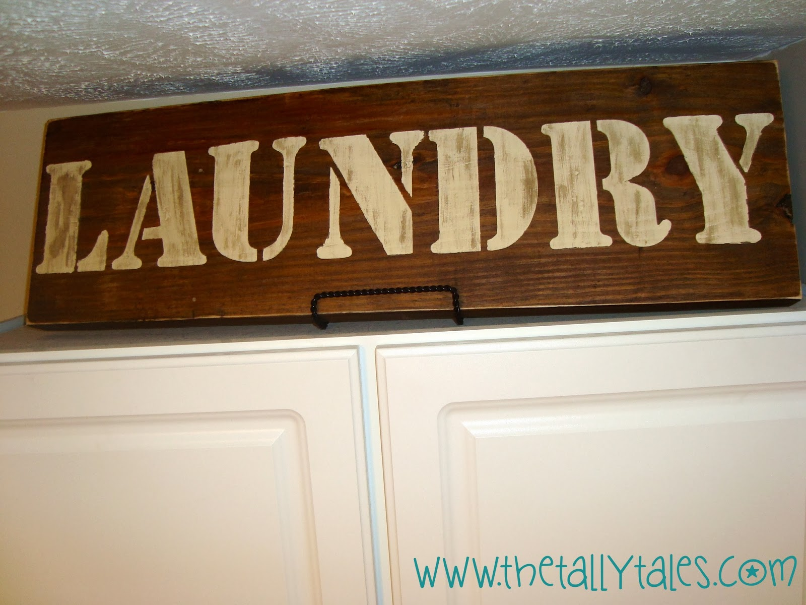 Wooden Laundry Sign Tally Tales Diy Rustic Wooden Lettered Sign