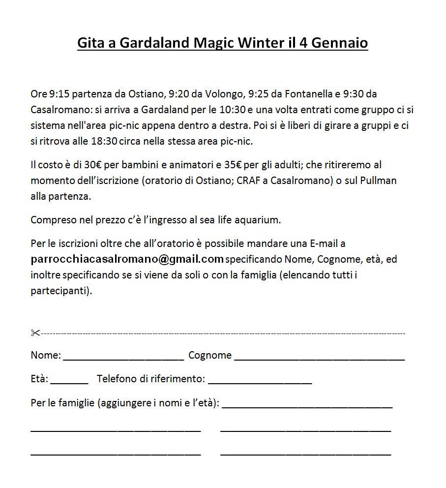 Gita a Gardaland