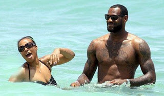 Lebron James with Family