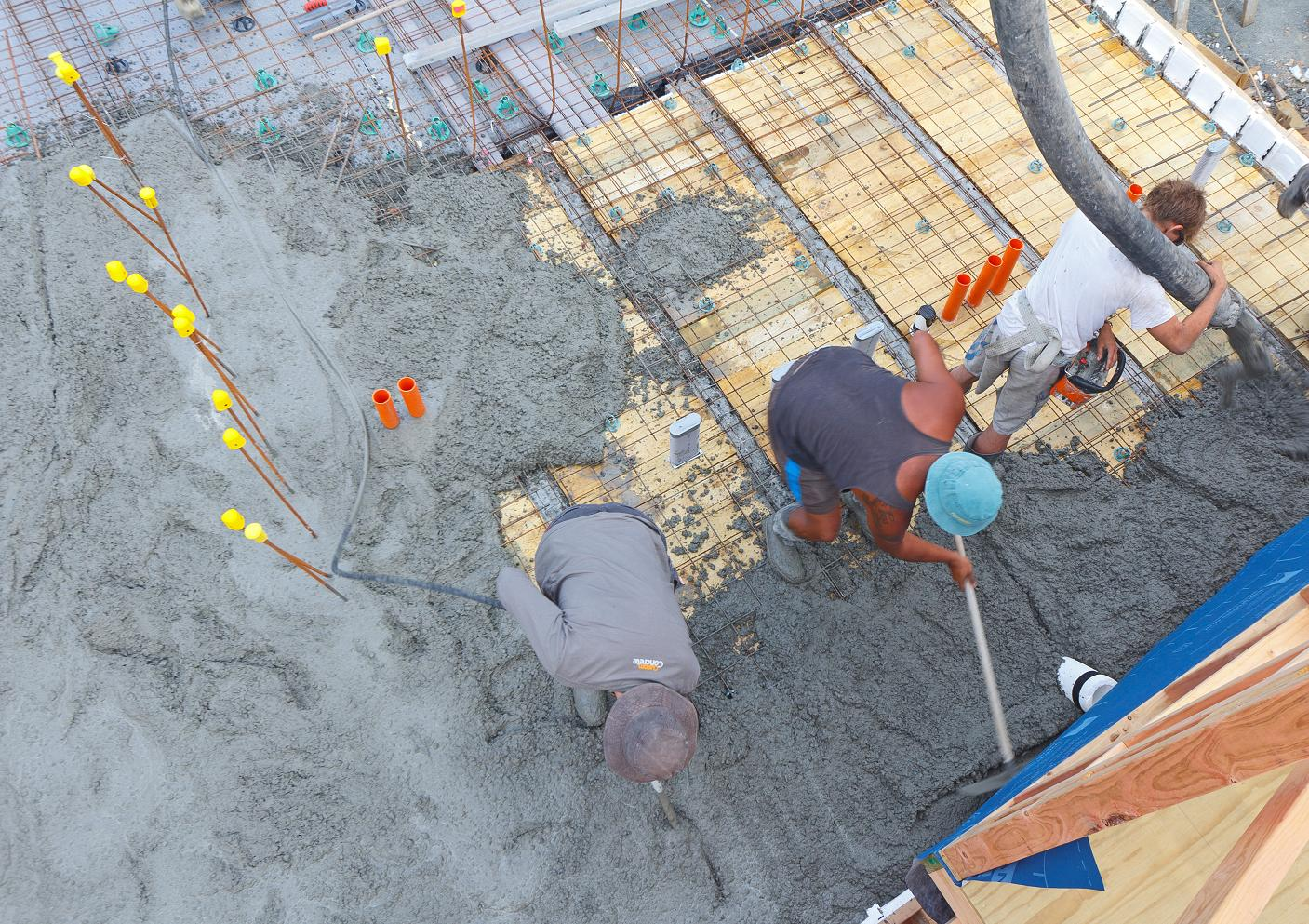 Concrete Floor Slab Second Pour The New Zealand 39 S