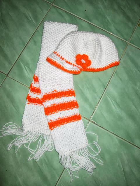 mũ và khăn len cho bé