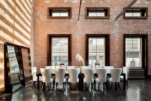 Modern country style industrial style dining room for Dining room ideas industrial