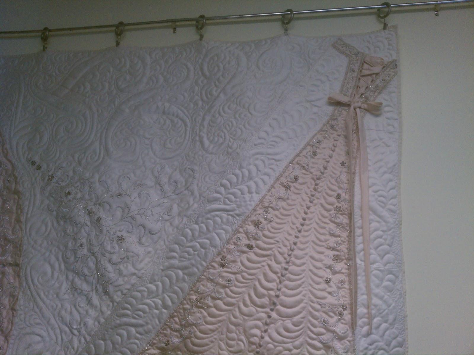 Back Porch Quiltworks: Heirloom wedding dress quilt