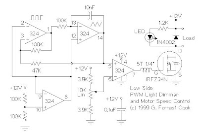 12V Low side and High side PWM Motor/Light Controller