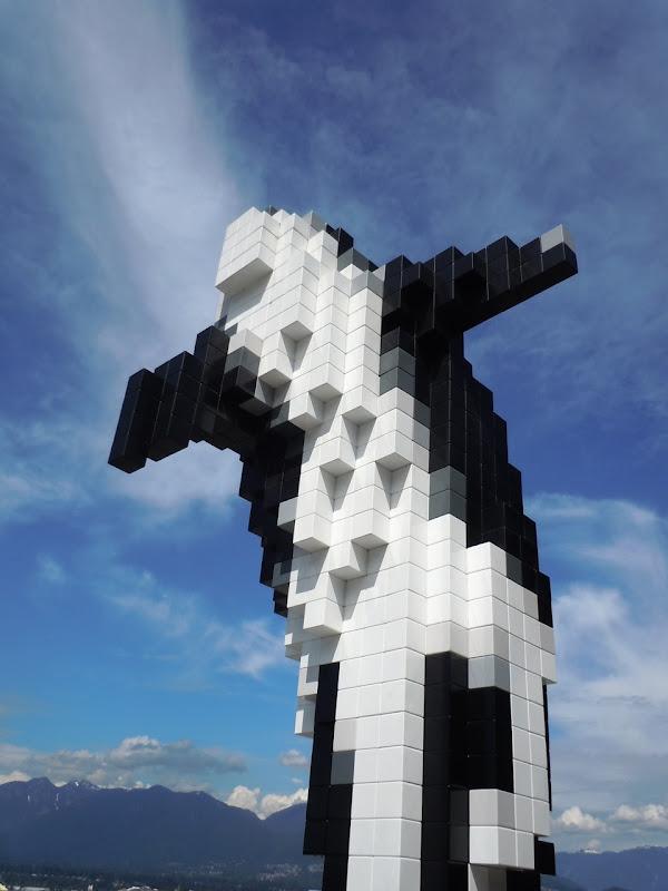 Douglas Coupland Digital Orca sculpture Vancouver