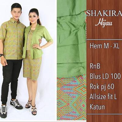 Baju Batik Pasangan Shakira Biru SP8096
