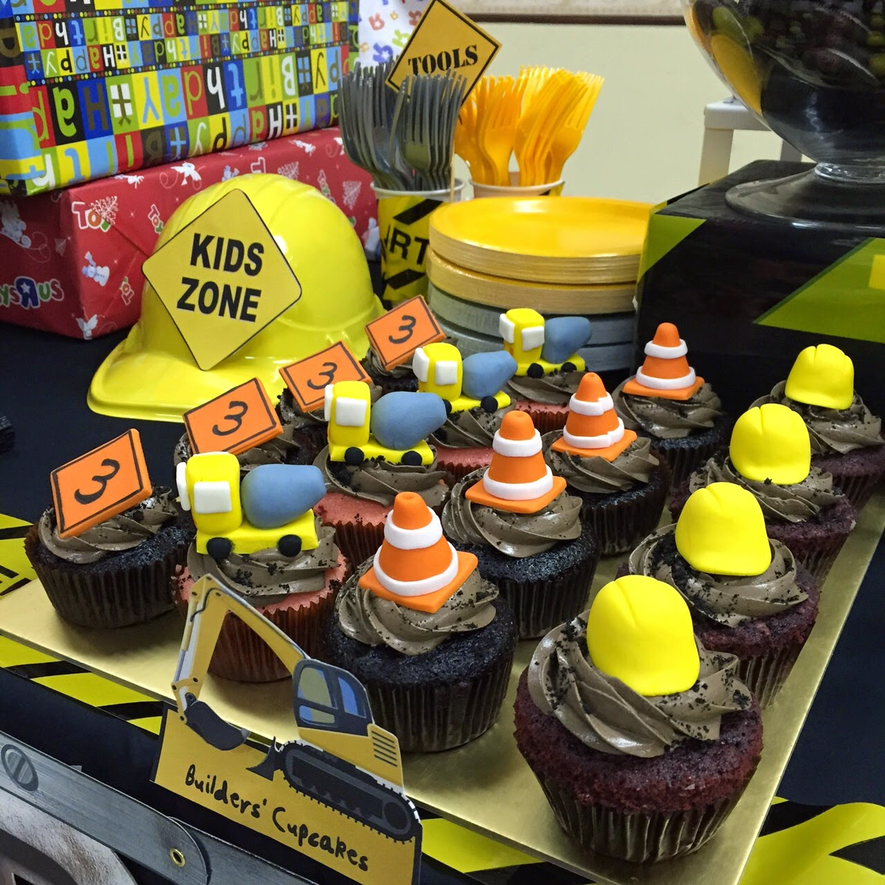 Construction Site Cake Toppers