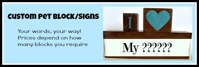 Custom order wood craft dog signs