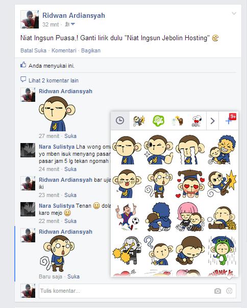 Sekarang Bisa Kirim Stiker Melalui Komentar Facebook