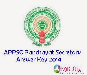 APPSC Panchayat Secretary Paper 1, Paper 2 Answer Key 2014 Download at website.apspsc.gov.in