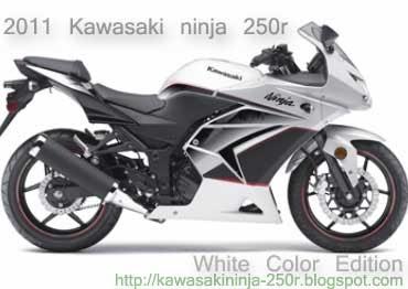 2011 Kawasaki ninja 250r white
