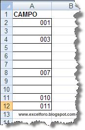 VBA: Macro para rellenar celdas en blanco en Excel.
