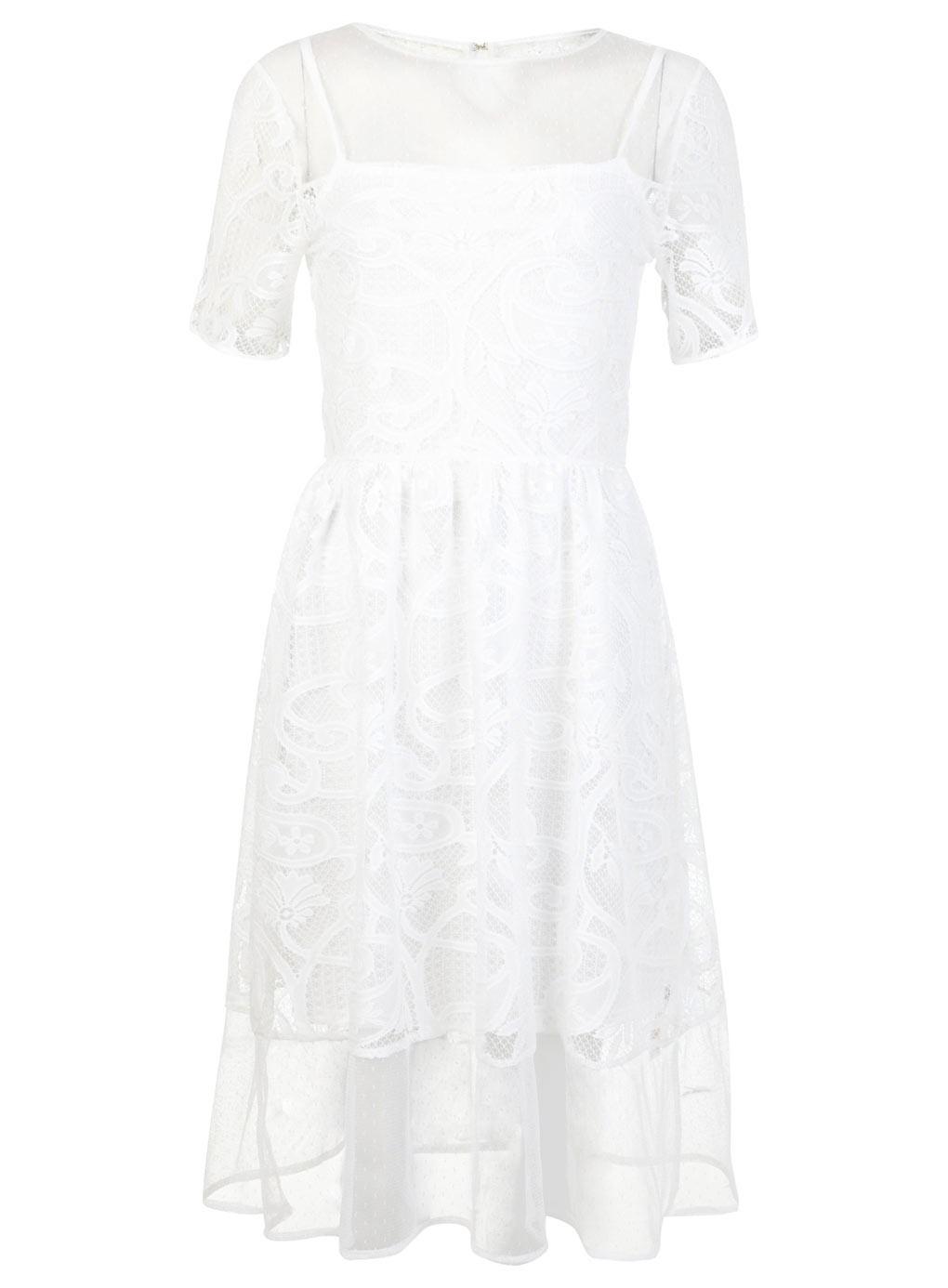 selfridge white midi dress