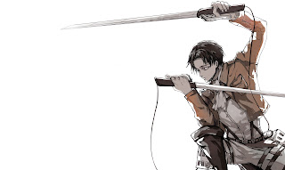 Attack on Titan Shingeki no Kyojin Levi Rivaille Anime Blade Sword HD Wallpaper Desktop Background