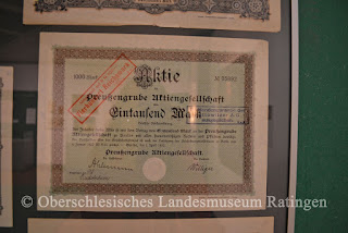share certificate of Preussengrube Aktiengesellschaft
