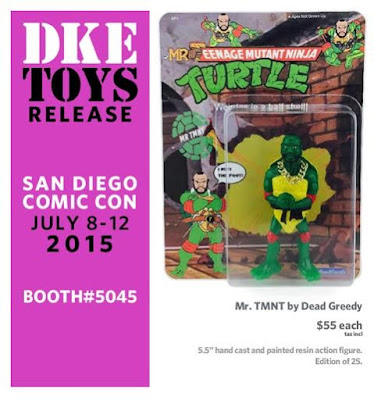 San Diego Comic-Con 2015 Exclusive Mr. TMNT Kitbashed Bootleg Resin Figure by Dead Greedy