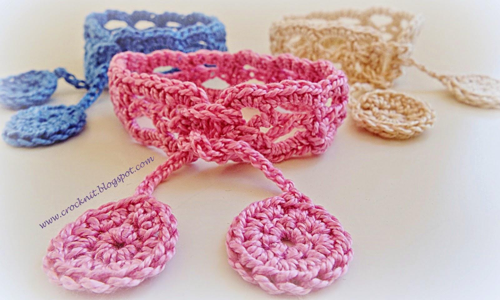 free pattern crochet bracelet boho cuff cotton