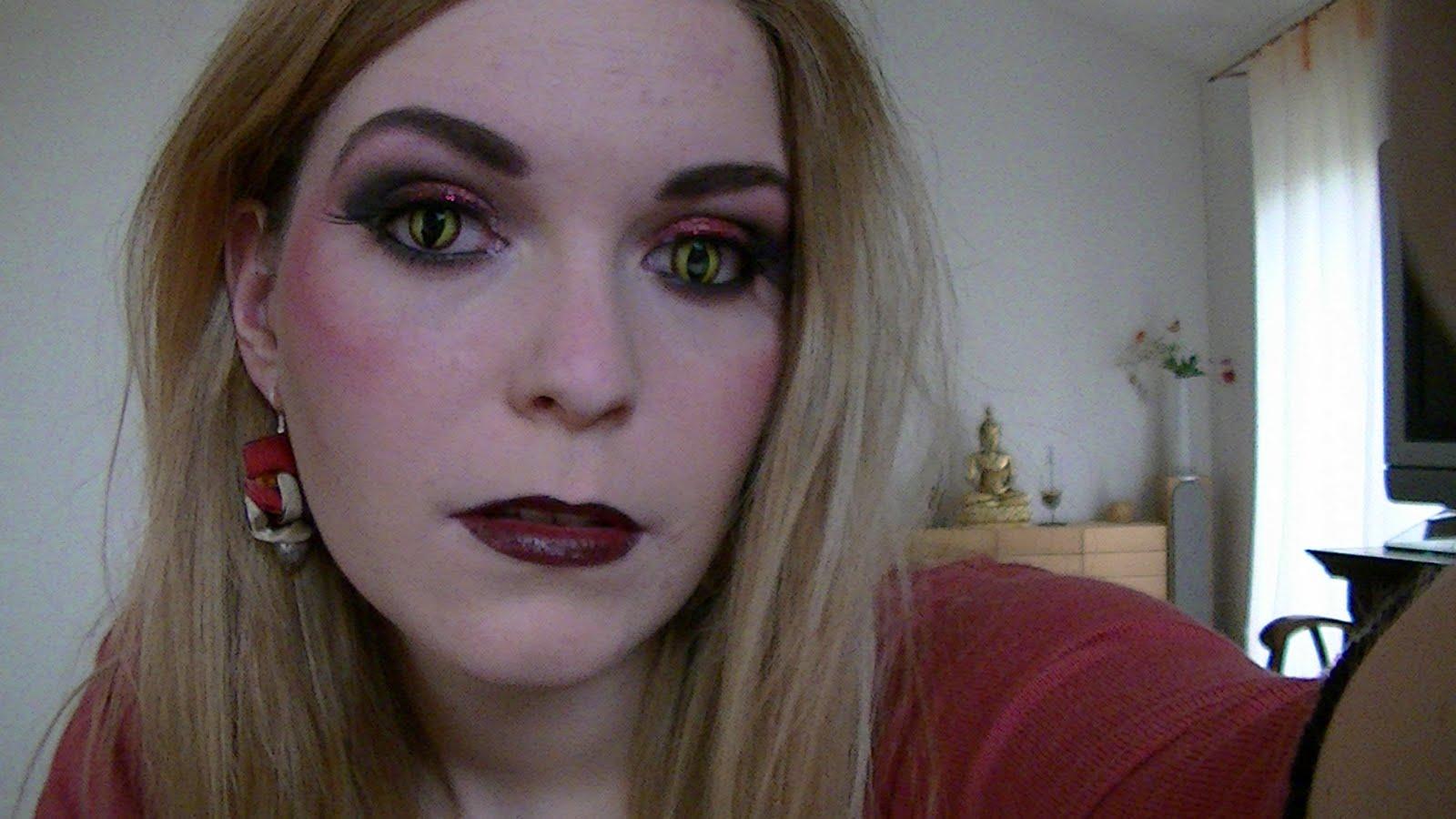 Beaut rat e vid o maquillage d 39 halloween diablesse - Maquillage diablesse halloween ...