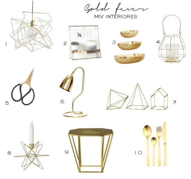 Dorado, elegancia pura para el 2016 + selección de compras
