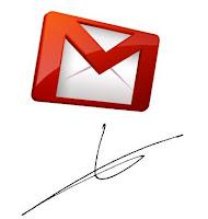 Logo Gmail y una firma