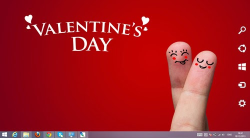 Valentine's Day Theme For Windows 7 And 8 8.1 9