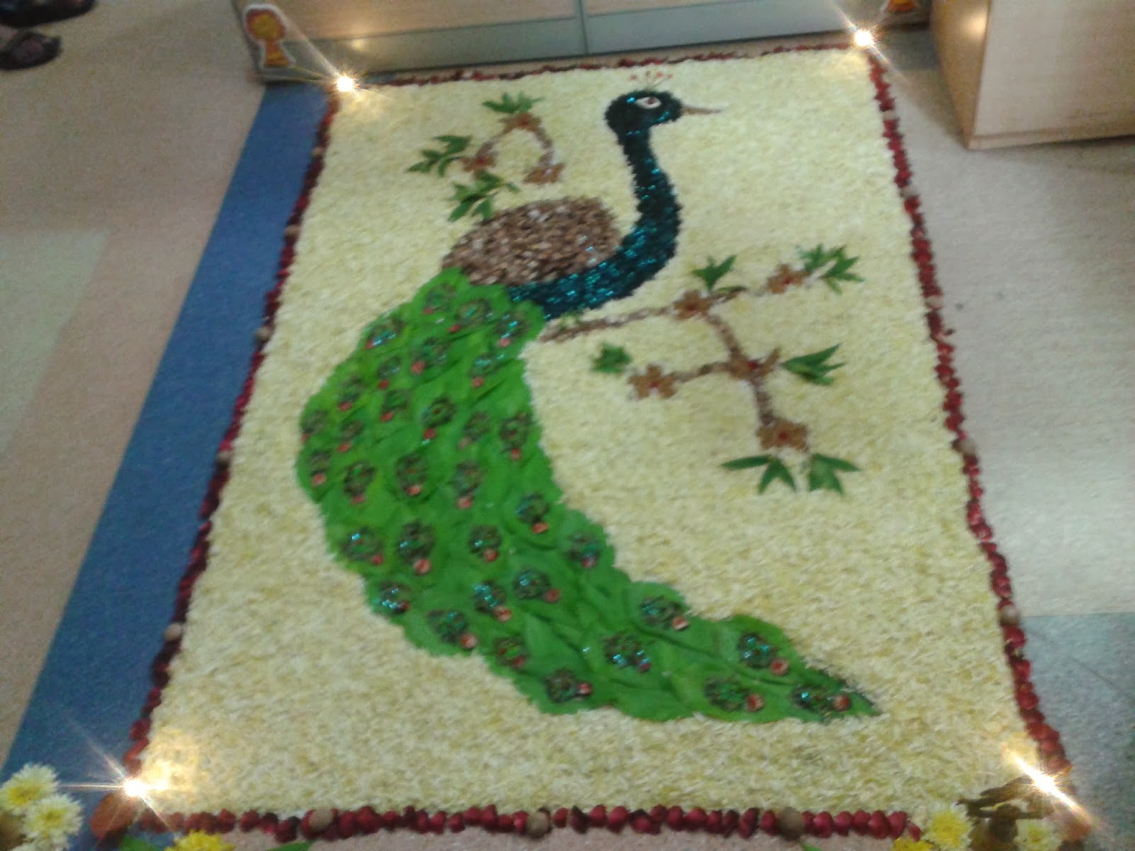 Rangoli Designs For Competition With Concepts This fab rangoli won the 1st