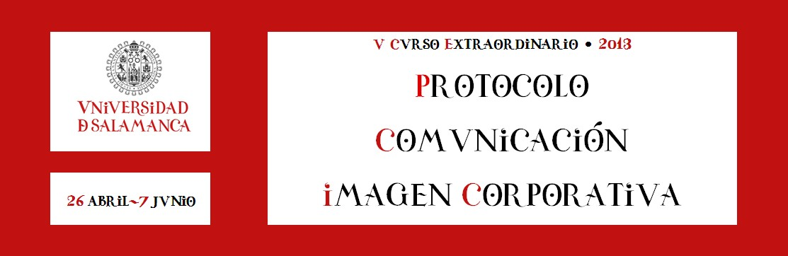 V Curso Extraordinario de Protocolo, Comunicación e Imagen Corporativa. USAL