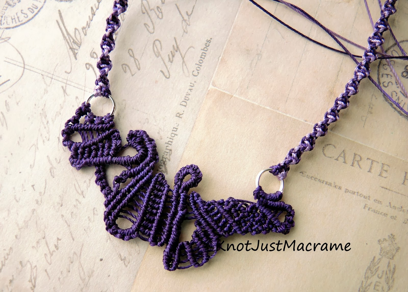 Free form knotting by Knot Just Macrame