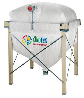 silo textil almacenamiento pellets