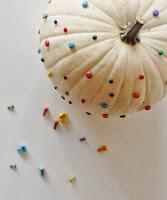 citrouille blanche customisé halloween enfant cadeau