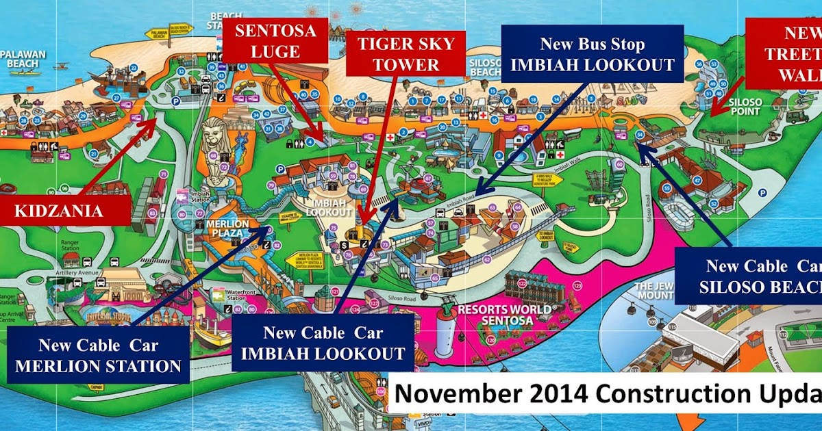 Sentosa Island Maps And Visitor Information