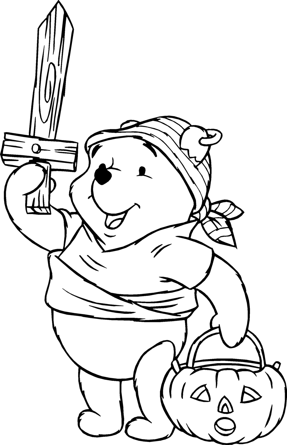 Winnie The Pooh Coloring Pages Learn To