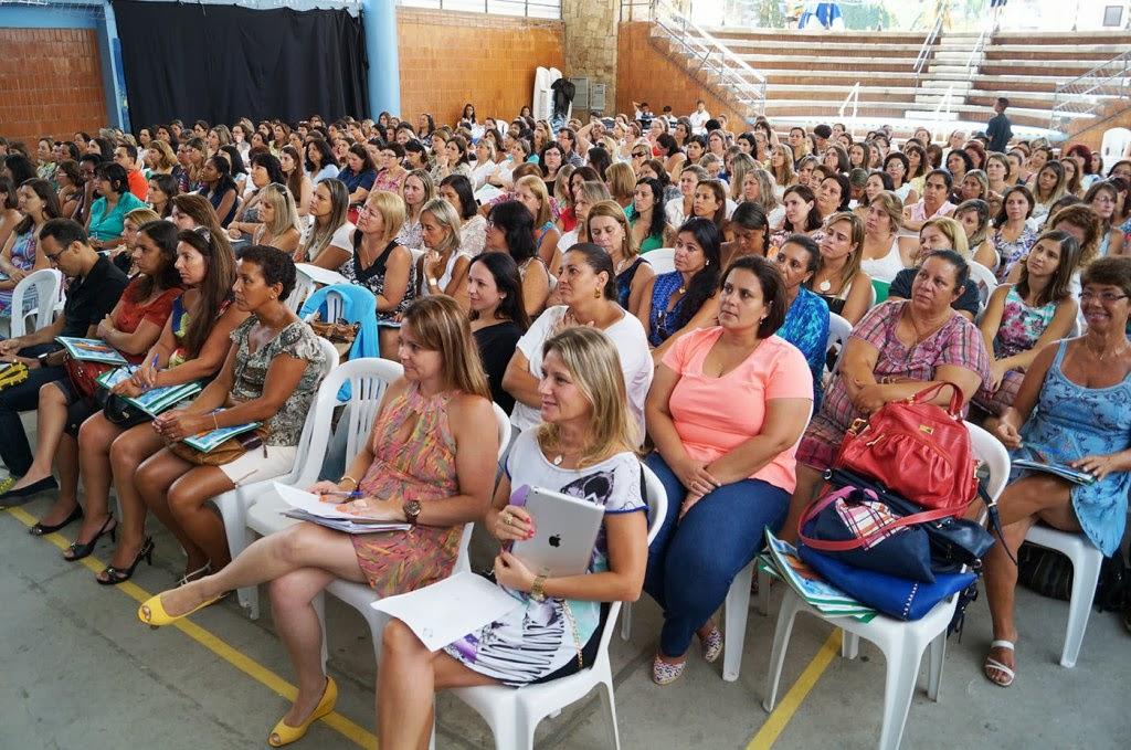 Equipes diretivas da rede municipal na Jornada Pedagógica 2014 no SESC Teresópolis