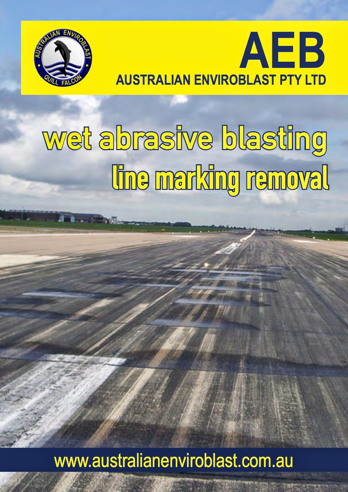 Wet abrasive blasting also cleans mould, grease, oil and other slippery deposits from roads, paths, walkways, car parks and driveways.