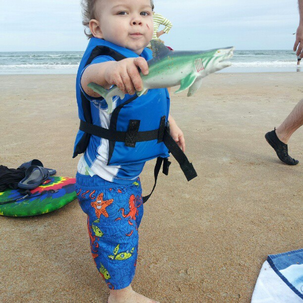 Toddler at Daytona Beach, Clearwater Beach, St Petersburgh Beach in Florida