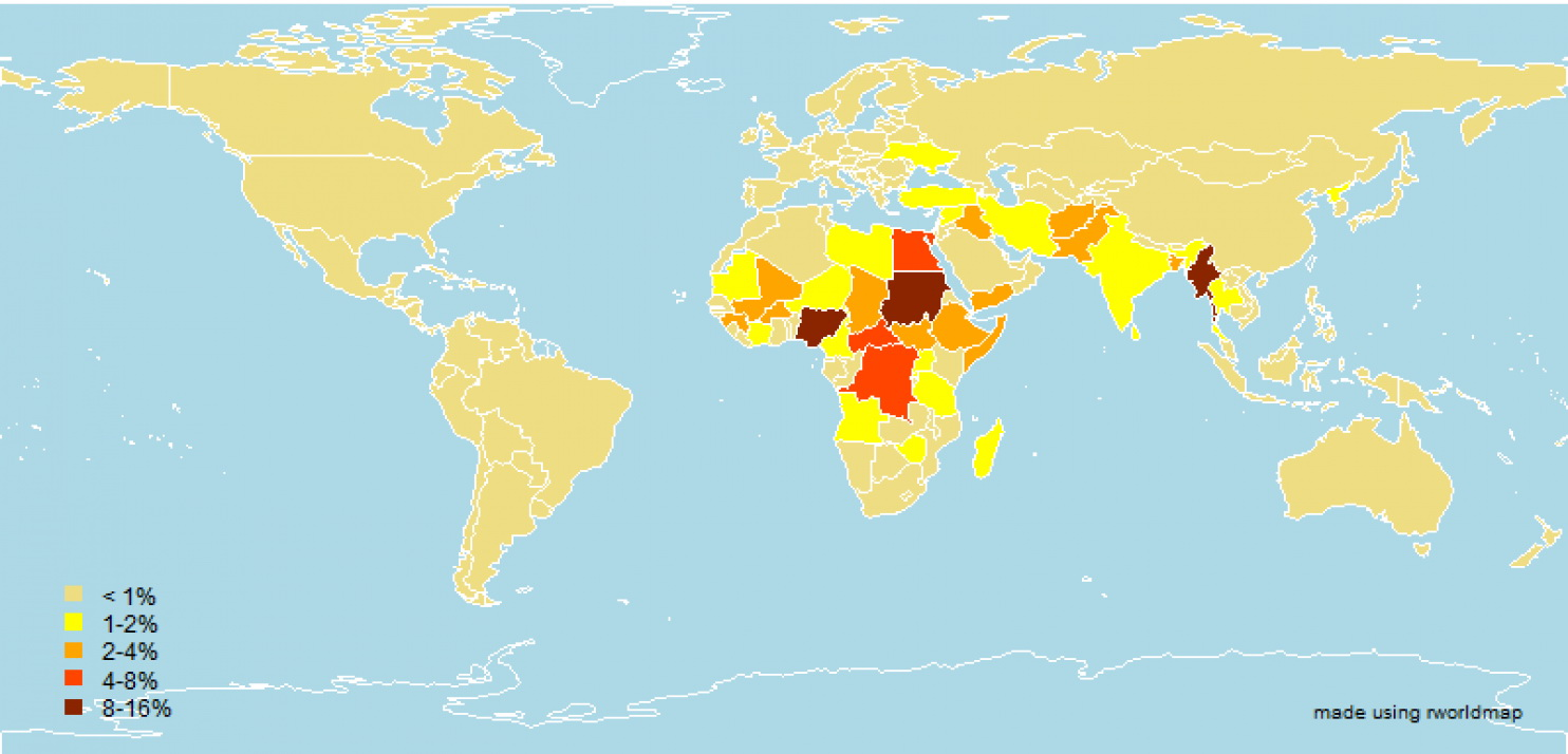 Map: The risk of genocide around the world