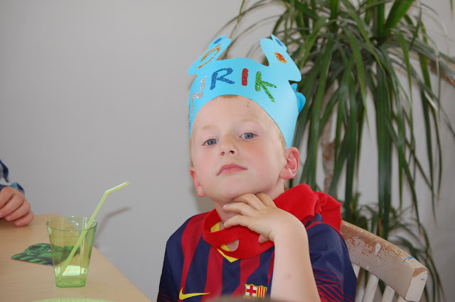 Henrik 5 år på egen turtles bursdag
