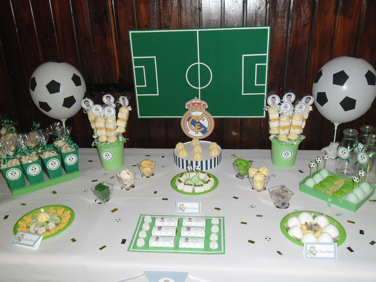 Mi rinc n artesano candy bar real madrid - Decoracion para foto ...