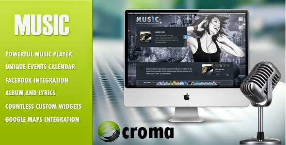 Descargar] Plantilla Wordpress Music - Facebook app / Musica ...