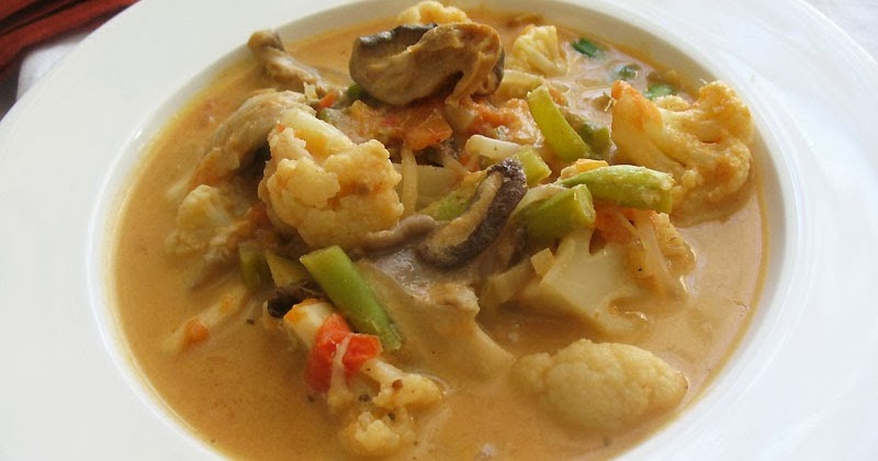 Thai Red Curry Vegetable Soup