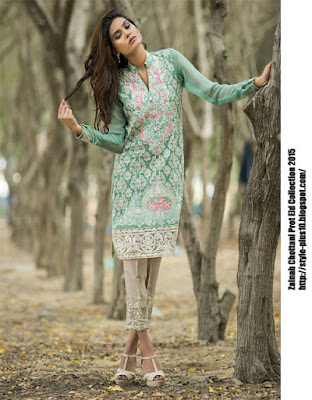 soothing-combination-of-mint-and-green-zainab-chottani-eid-pret-2015