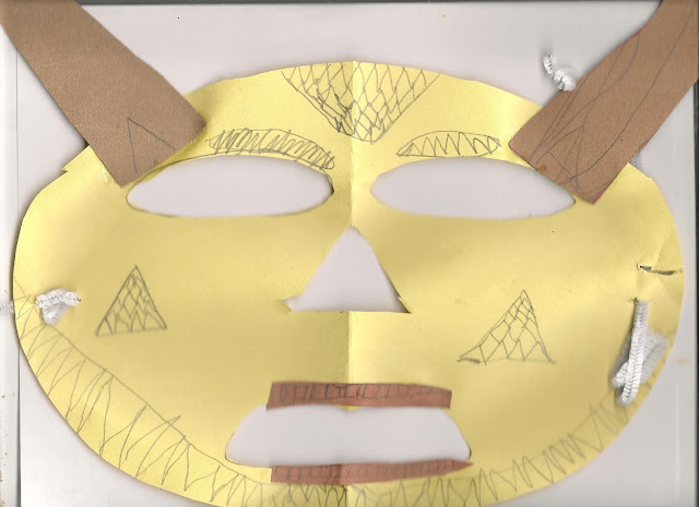 Pende African Mask Homeschool Projects for Mardi Gras