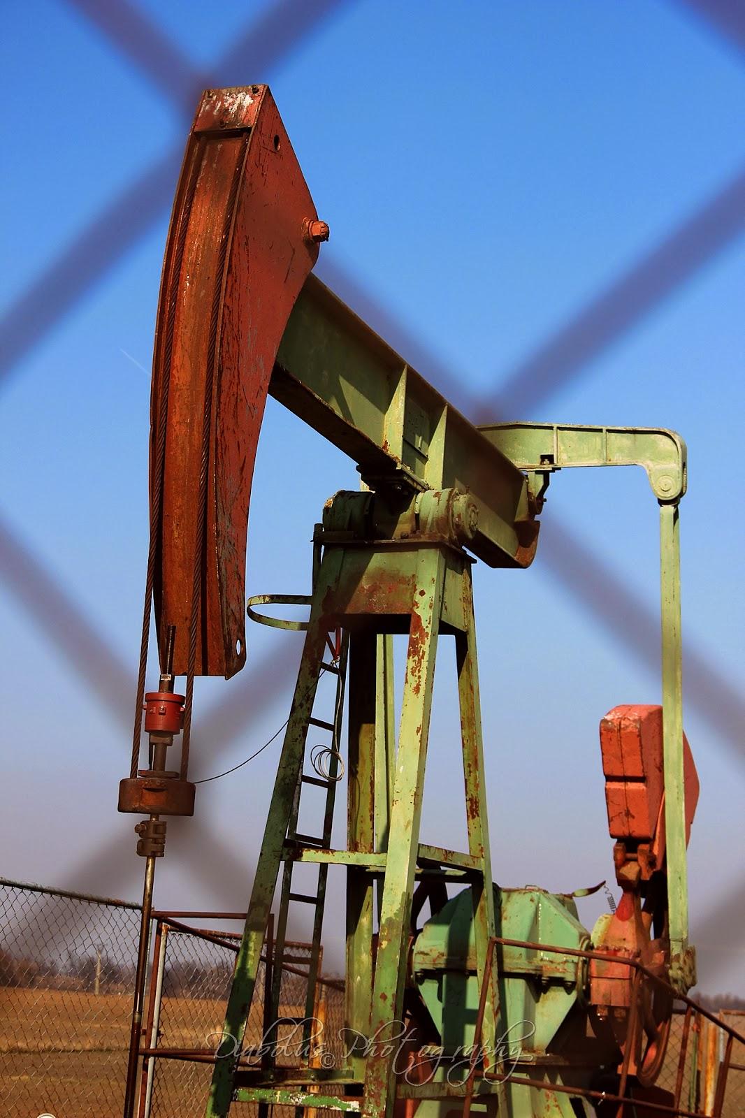 Čelní pohled na naftařský kozlík 7t